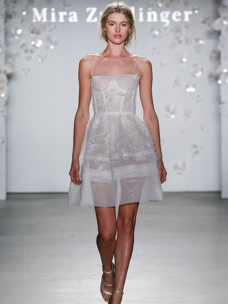 Mira Zwillinger​ short sexy wedding dress