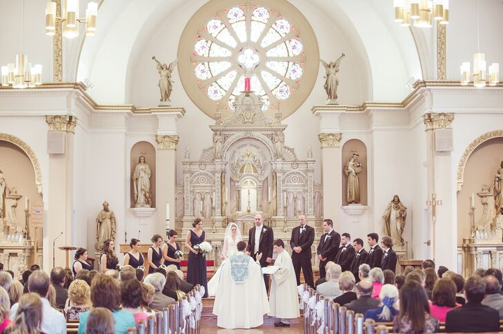 The couple exchanged vows at the St. John the Evangelist Church -- the same church where Meg's family regularly attends.