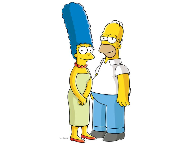 The Simpsons famous cartoon couples