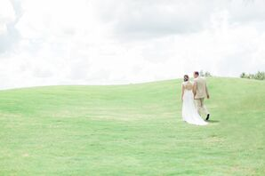 Lace Keyhole Wedding Dress Back