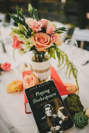 Book Centerpiece and Table Marker