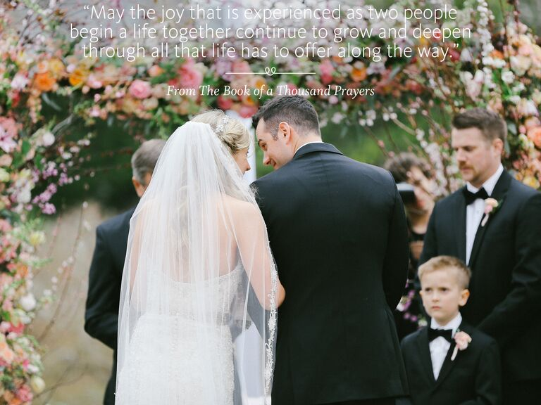 The Book of a Thousand Prayers wedding ceremony reading