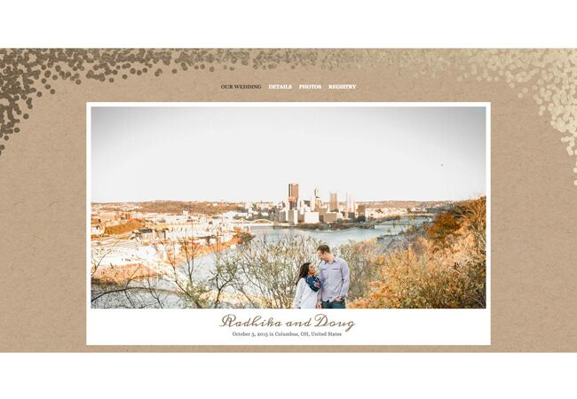 radhika-doug-wedding-website
