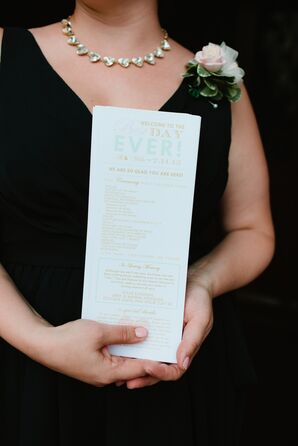 Mint, Gold and White Ceremony Programs