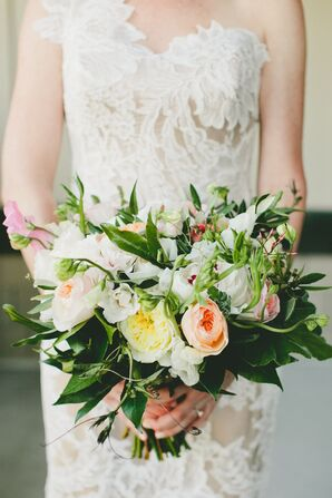 Romantic Garden Rose and Greenery Bouquet