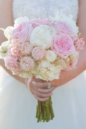 Traditional, Romantic Peony and Rose Bouquet