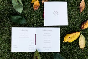 Modern Elegant White Stationery With Red Accents