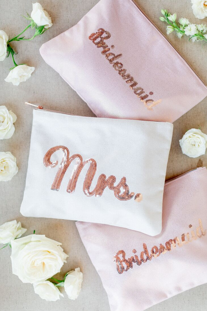 Cosmetic Bags for Bride and Bridesmaids