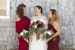 Mismatched Red Bridesmaid Dresses