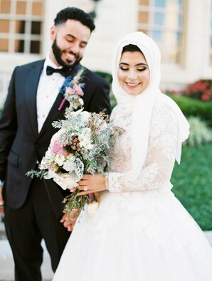 Bride and Groom Portraits at the Kansas City Convention Center in Missouri