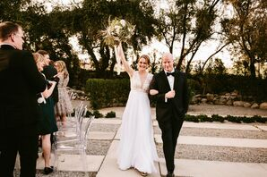 Glam Black-and-White Wedding in Palm Springs
