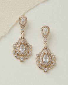 USABride Sara CZ Earrings (JE-4147) Wedding Earring photo