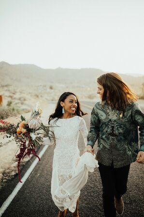 Bohemian Couple at Sacred Sands in Joshua Tree, California