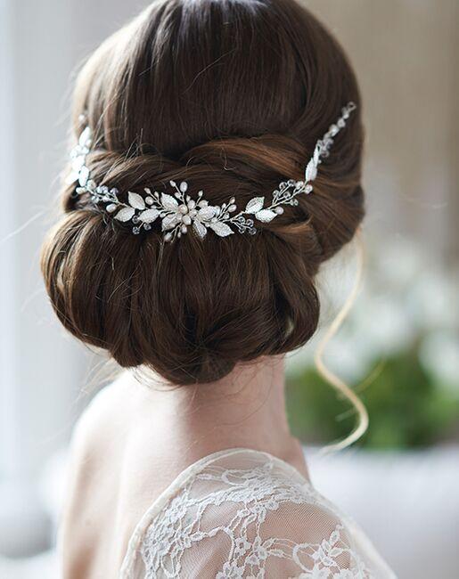 Dareth Colburn Valentina Floral Hair Vine (TI-3363) Gold, Silver Headband