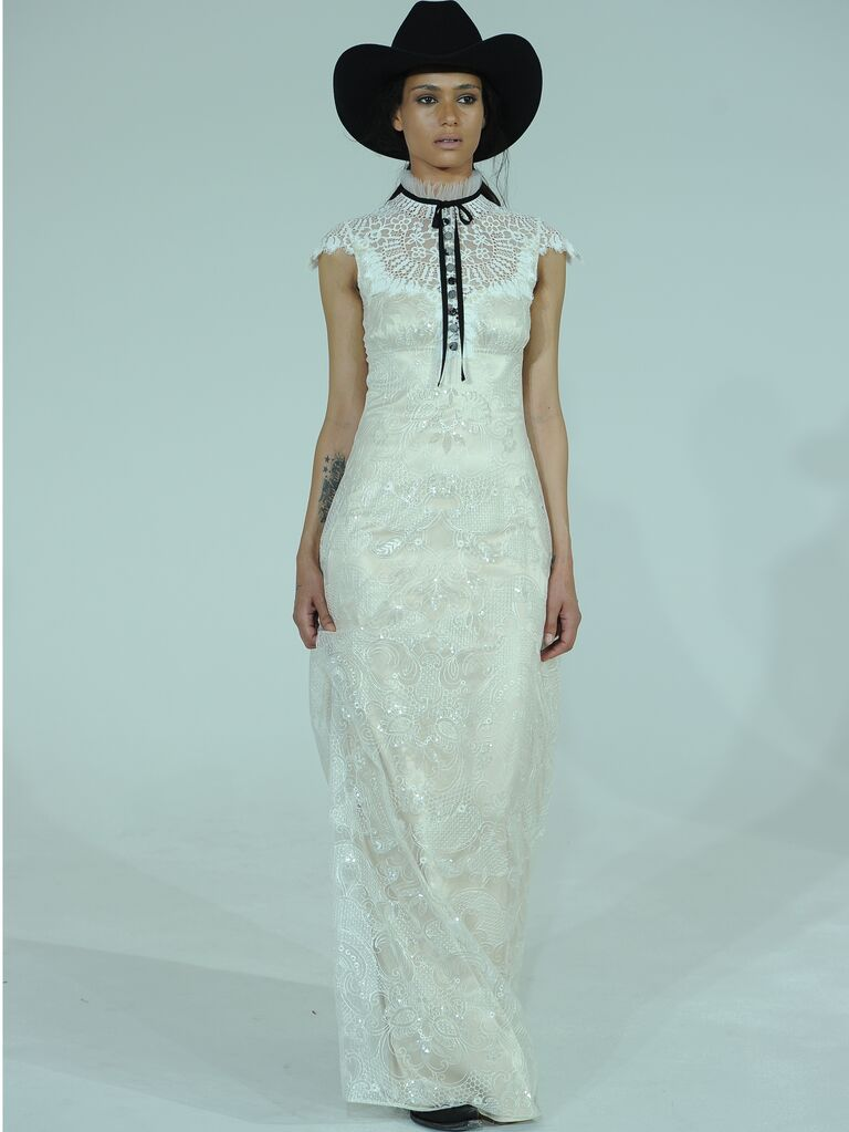 Claire Pettibone Spring Wedding Dresses: Bridal Fashion Week Photos