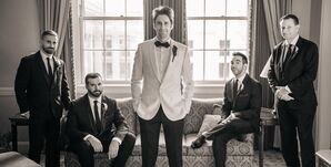 White Dinner Jacket Groom Attire