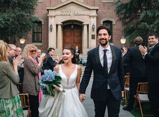 As lovers of movies and theme parks, Melissa	Russell and Jeremy Slater were psyched to book the Universal Studios Backlot as their wedding venue. Afte