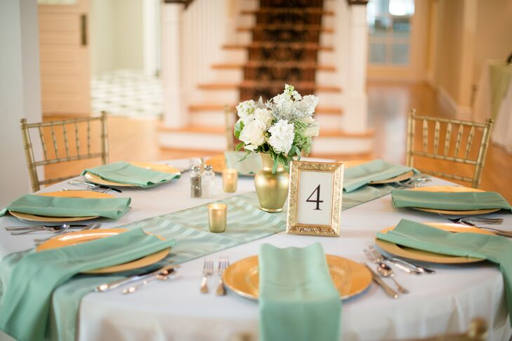 Sage And Gold Reception Tables