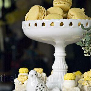Yellow Macaron Desserts