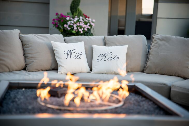 This fire pit with lounge furniture is a lovely touch to any cocktail hour or reception, especially for Kate and Will's guests enjoying the Atlanta skyline view at Ventanas.