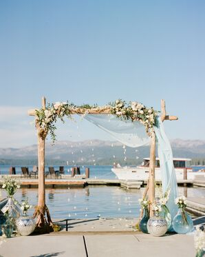 Customized Wedding Arch, Japanese Paper Cranes