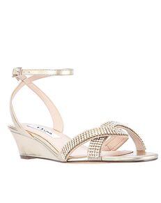Nina Bridal Florina Gold, Champagne Shoe