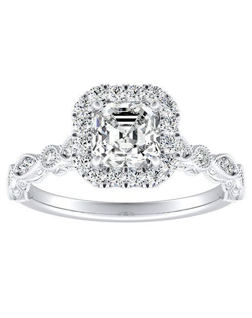 DiamondWish.com Vintage Princess, Asscher, Cushion, Marquise, Pear, Round, Oval Cut Engagement Ring
