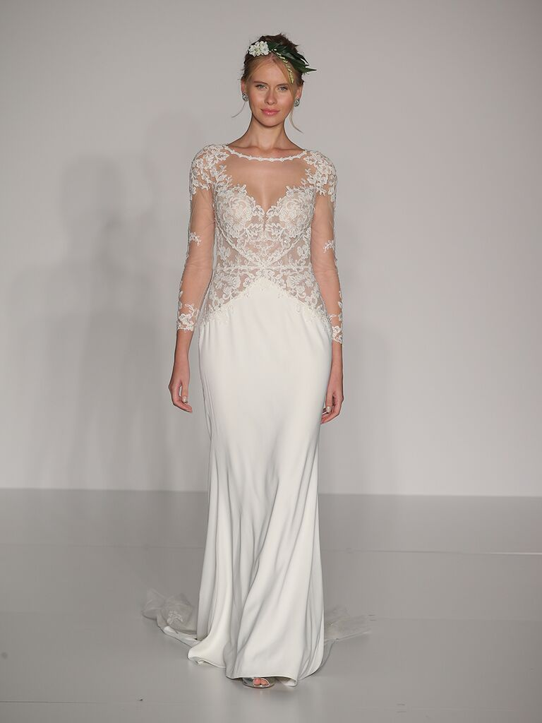 Maggie Sottero Fall 2017 long sleeve illusion wedding dress with art deco beading