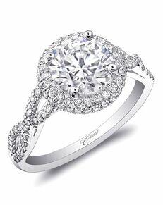 Coast Diamond Glamorous Round Cut Engagement Ring