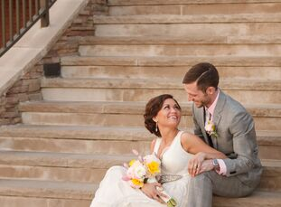 Rachel Weiss (27, a high school teacher) and Justin Boggs (31, an elementary school teacher) met on eHarmony and talked for about three weeks before m