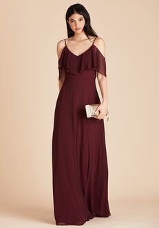 Birdy Grey Jane Convertible Dress in Cabernet V-Neck Bridesmaid Dress