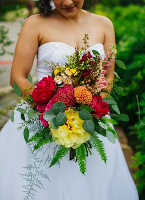 Stunning Colorful Bridal Bouquet
