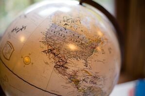 Vintage-Inspired Globe Guest Book