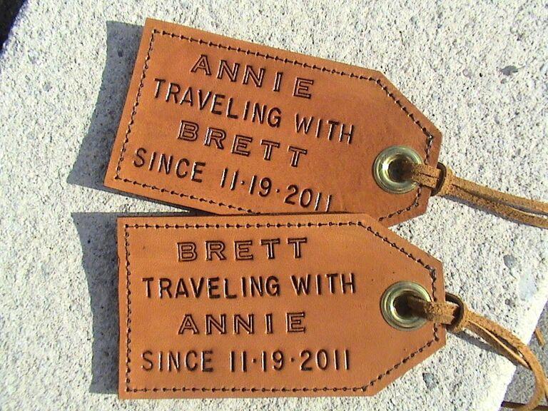 Etsy Luggage Tags Personalized Wedding Gift Ideas