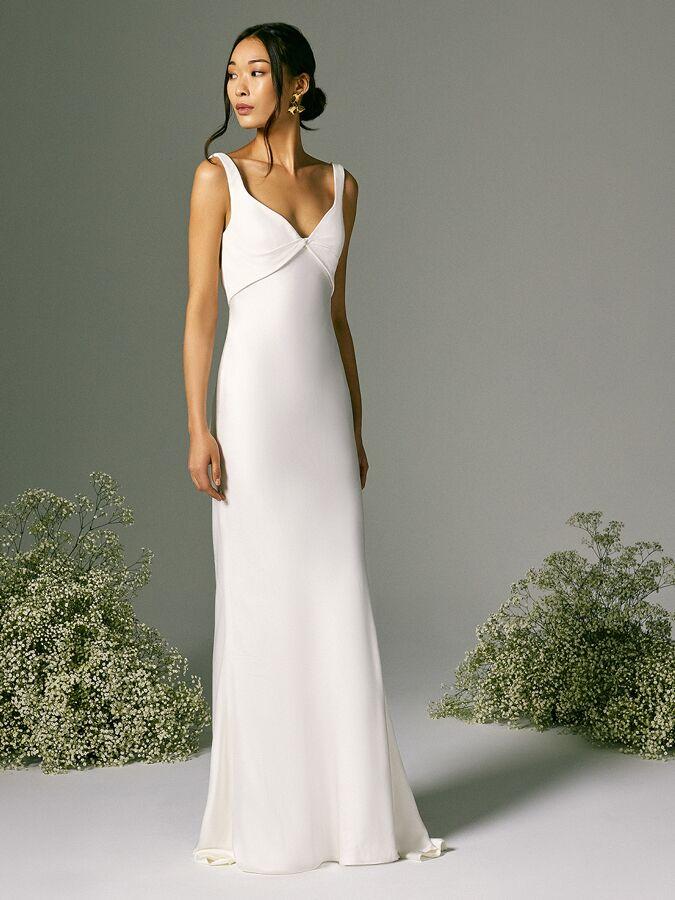 Savannah Miller twist front wedding dress