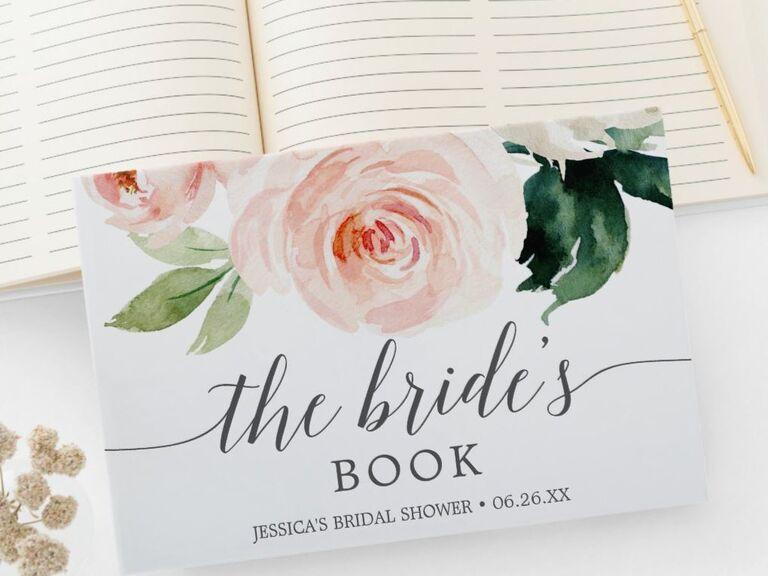 Pretty floral bridal shower guest book