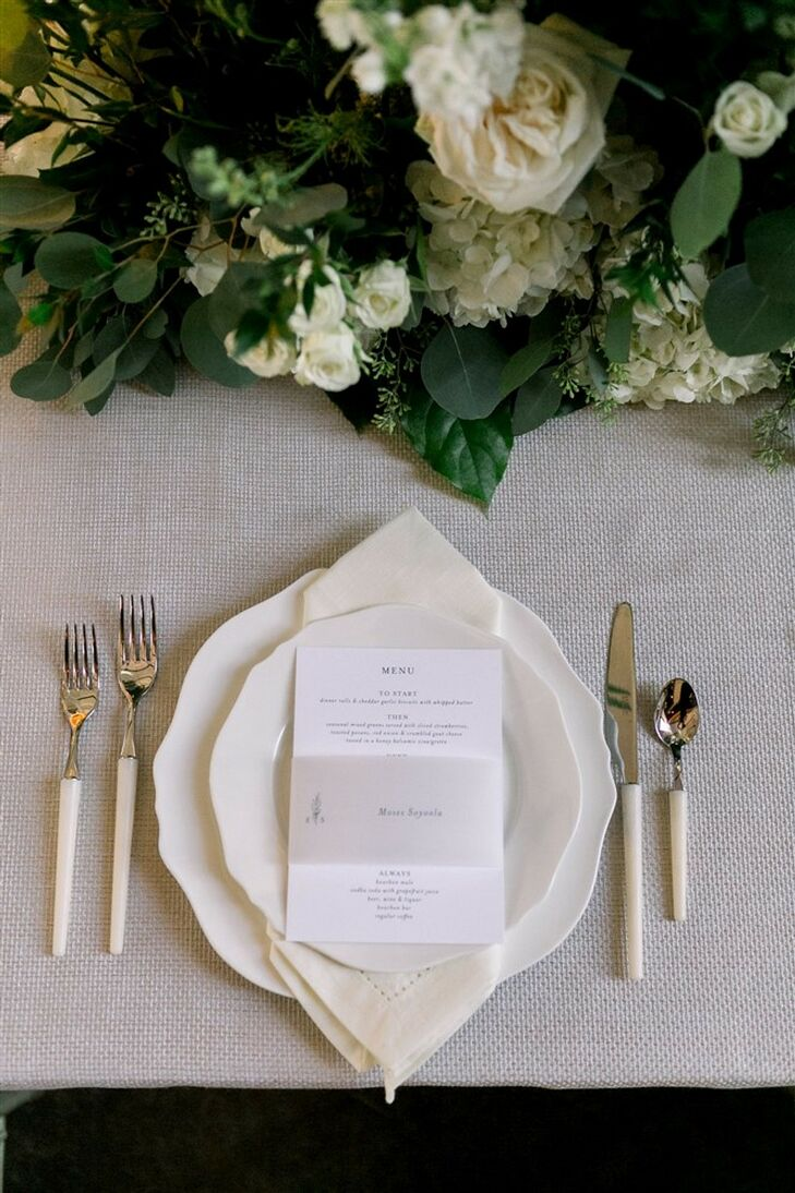 Place Setting at Classic Garden Wedding in Wilmington, North Carolina
