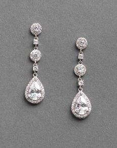 USABride Petite CZ Drop Earrings (JE-4023) Wedding Earring photo