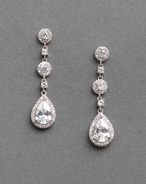 32d7524c3 USABride Petite CZ Drop Earrings (JE-4023) Wedding Earring photo