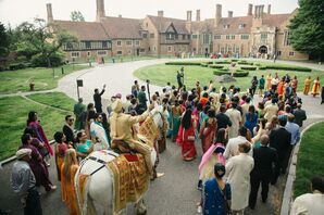 Indian Baraat at Meadow Brook Hall's Pegasus Garden
