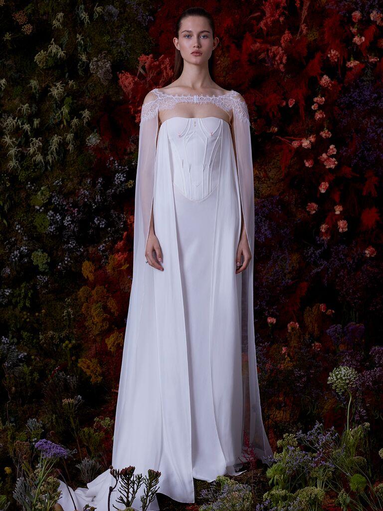 EDEM A-line dress with long sleeve overlay