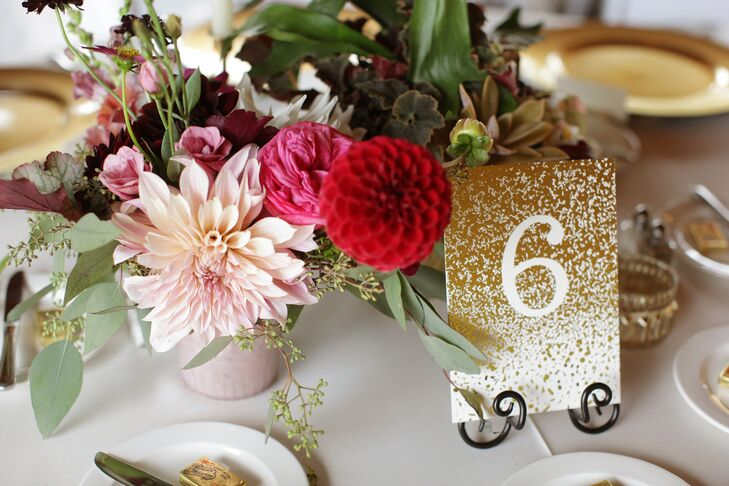 Glamorous Gold Table Numbers