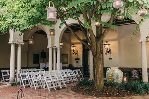 Romantic Courtyard Ceremony at the Museum of Fine Arts in St. Petersburg, Florida