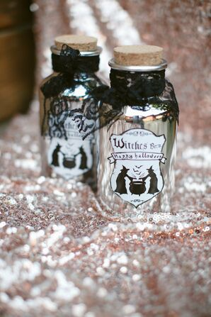 Witches Brew Vials for Halloween Themed Wedding
