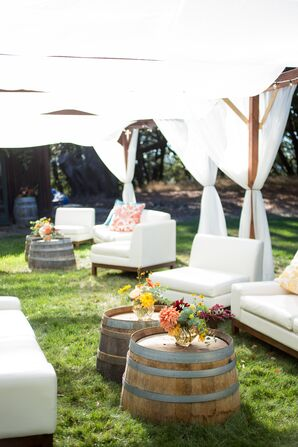Outdoor Reception, Tented Lounge Area