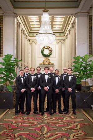 Formal Black Tuxedos and Bow Ties