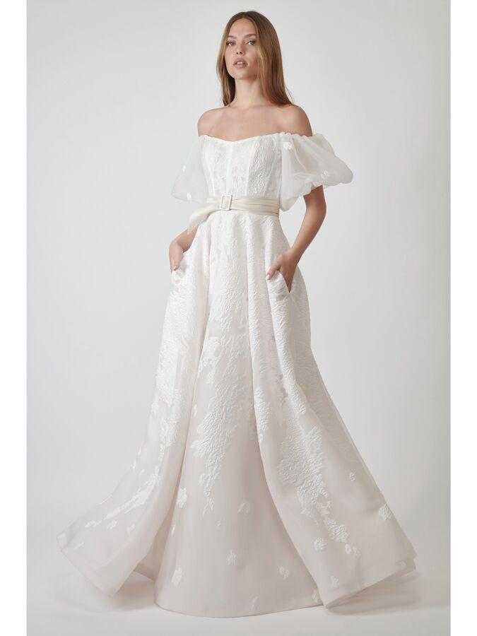 Lihi Hod Couture off-the-shoulder A-line wedding dress