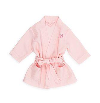 Custom Baby Cotton Waffle Bath Kimono