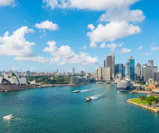 Australia city skyline with Sydney Opera House