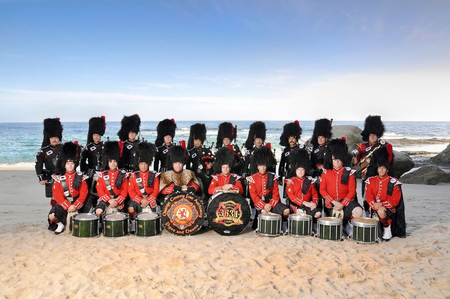 OCFA Pipes and drums OC, California